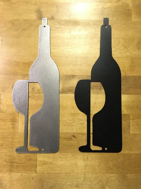 Funky Wine Bottle Metal Wall Art Frieze - Wall Art Collections ...
