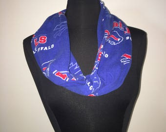 Repurposed/Up-cycled Buffalo Bills Infinity Scarf