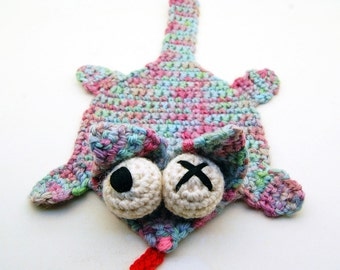 Crochet Splat Splat Cat Coaster Amigurumi Plush PDF Digital Download Pattern