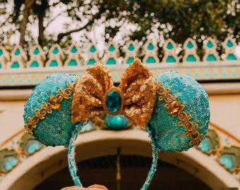 Jasmine mouse ears, Aladdin mouse ears, Disney ears, mouse ears, Minnie mouse ears, Mickey mouse ears, princess mouse ears, jasmine ears