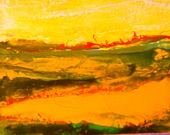 abstract painting. Germination