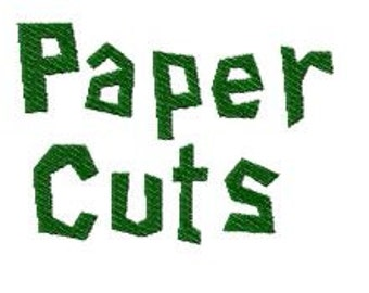 Buy 2, Get 1 Free, Paper Cuts Embroidery Font, Instant Download, PES format
