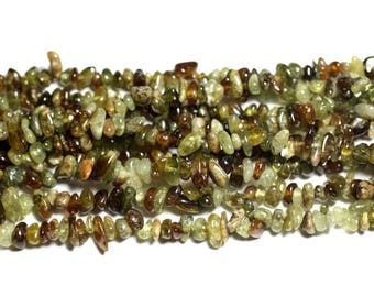 20pc - stone beads - green Chips Nuggets 5-8mm 4558550019929 Garnet