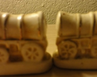 Vintage Coverwagon Salt and Pepper Shakers