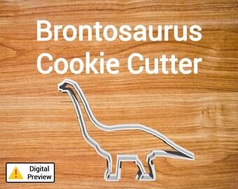 """4"""" Brontosaurus Cookie Cutter (Dinosaur Set)"""