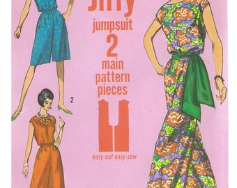 1960s 60s Reproduction E Pattern Vintage Sewing Pattern Simplicity 5930 Jiffy Jumpsuit Bust 38 40 PDF INSTANT DOWNLOAD