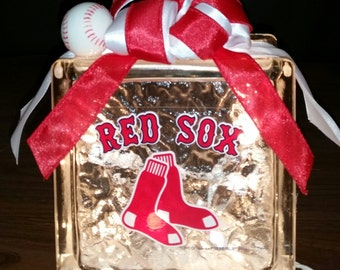 BOSTON RED SOX Lighted Glass Block