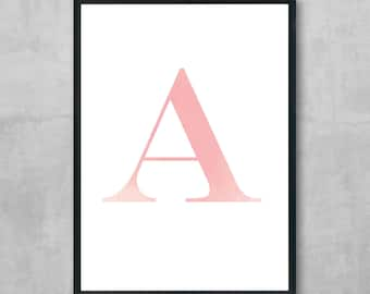 Personalised letter print - PINK