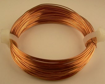 COPPER WIRE  26ga   2 oz  180 ft  solid bright  copper wire