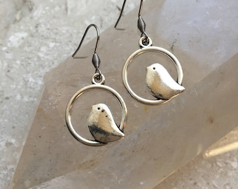 Sparrow Charm Earrings