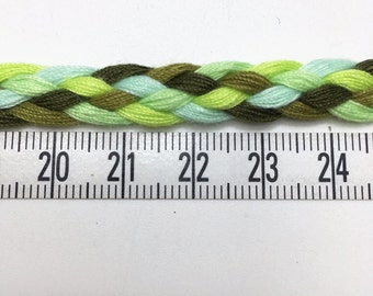 3 to 6 yards 1 cm Braided Trim -  Choose your own yard - Olive Green Lime Green Mint