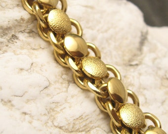 Chunky Wide Link Bracelet Vintage Jewelry