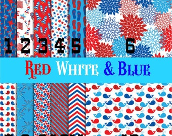 Printed Vinyl, Red White & Blue, Printed Vinyl, Adhesive Outdoor Vinyl, HTV, Heat Transfer Vinyl, Iron On, Design Vinyl, Patriotic Vinyl