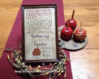Gathering season primitive sampler