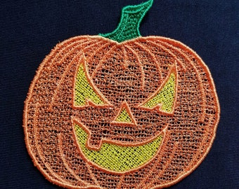"Embroidery File FSL Halloween Decoration ""Pumpkinhead"""
