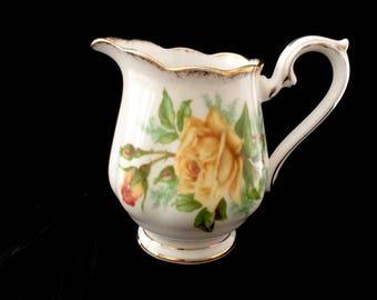 Royal Albert Bone China England Tea Rose Mini Creamer Pitcher