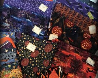Halloween Fabric Destash  Sewing Crafting Destash