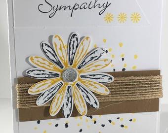 With Sympathy Daisy, card