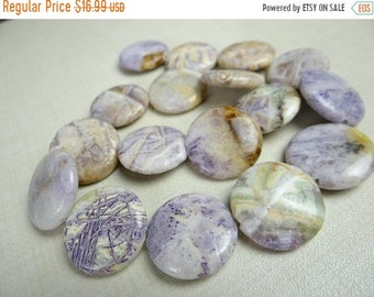 54% Off Sale Burro creek jasper smooth coin nugget beads/22x22mm/7.5 inch strand