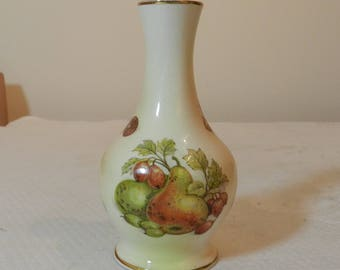 Royal Worcester Palissy Bud Vase Fruit Pattern