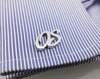 Groom Wedding Cufflinks, Initial Cufflink Personalized Cufflinks - Letters Cufflinks -Men Cufflinks - Initials Cufflinks - father's day gift