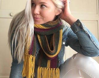 Crochet Scarf - Striped Crochet Scarf