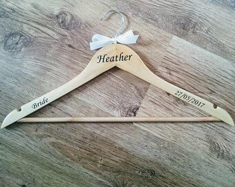 Wedding Hanger Vinyl Transfer decals - role/name/date - make your own hangers