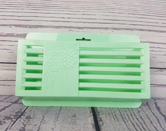 Vintage Fuller Brush & Co Air Freshener Holder / Turquoise Aqua Cute Letter or Mail Holder / Mint Light Green Pine Cone Farmhouse Decor