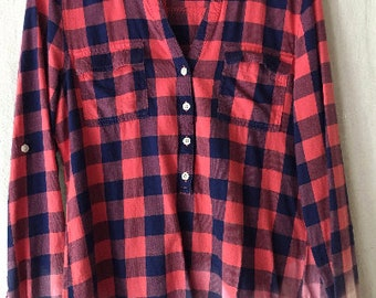 Womans Altered Flannel Shirt