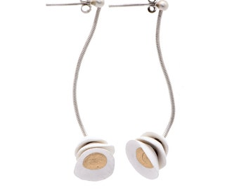 Lotus Earrings white
