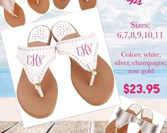 Womens Flip Flops, Summer Flip Flops, Womens Sandals, Tstrap Sandals, Monogrammed Flip Flops, Personalized Sandals