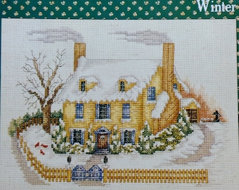 Betty Haddad Shelton WINTER In The COUNTRY In Season By Creative Keepsakes - Counted Cross Stitch Pattern Chart