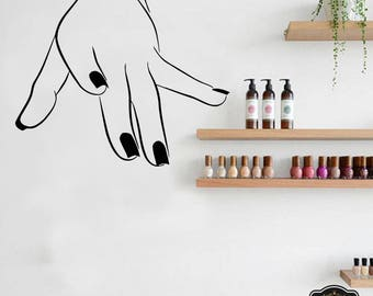 Wall Decal Nail Salon Art Beauty Salon Nail Stylist Nail Art Polish Manicure Woman Gift 1299t