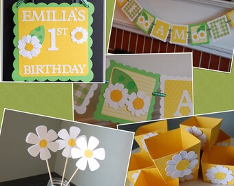 Daisy Birthday Package, Daisy Birthday Party, Daisy Theme, Daisy Party, Daisy Decorations