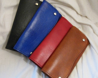 Three Part Roper Leather Wallet in Multiple Colors