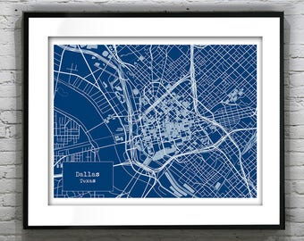 Etsy dallas etsy etsy birthday 20 off sale dallas texas blueprint map poster art print several sizes malvernweather Gallery