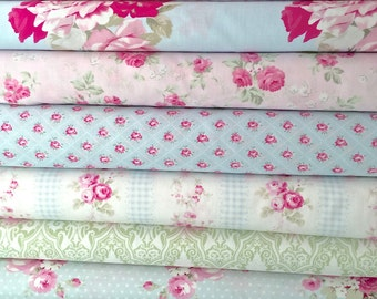 Tanya Whelan Slipper Roses Mix for Quilting, Sewing, Home Decor and Boutique Clothing