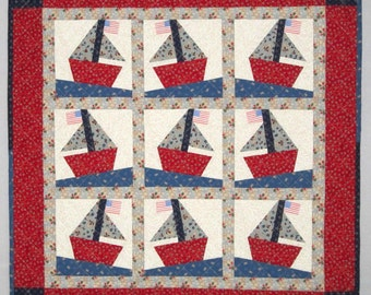 SAIL AWAY! Foundation Piecing Quilt Pattern from Quilts by Elena