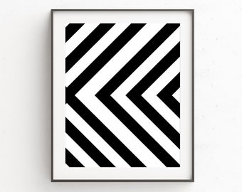 Black and White Art, Geometric Wall Art, Geometric Art, Digital Prints, Scandinavian Art, Geometric Print, Printable Wall Art, Modern Art
