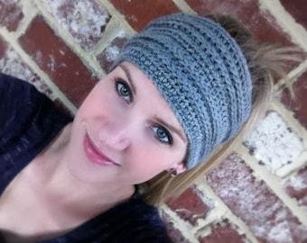 Headband Crochet Pattern No.805 Digital Download PDF File Hippy Head Hair Wrap English