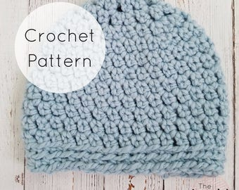 Maggie Chunky Beanie | Crochet Pattern | Sizes Baby-Adult | PDF Digital Download
