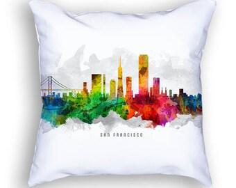 San Francisco California Pillow, San Francisco Skyline, San Francisco Cityscape, 18x18, Cushion, Home Decor, Gift Idea, Pillow Case 12