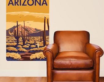 Arizona Sonoran Desert Cactus Wall Decal - #60898