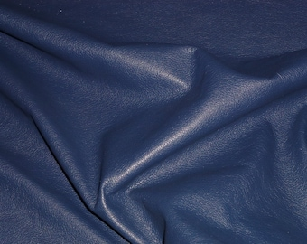 "Leather 12""x12"" Divine CATALINA NAVY Blue Top Grain Soft Cowhide 2-2.5 oz/.8-1 mm PeggySueAlso™ E2885-44 Full hides available"