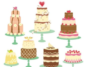 ON SALE clip art, cake clip art,Digital clip art for all use, celebrated cakes, INSTANT Download