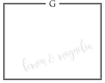 Initial Flat Notecard