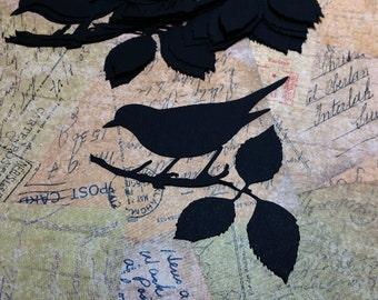 Die Cut Paper Bird Silhouettes. #MT-32