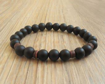mens beaded bracelet mens bracelet black gemstone bracelet for men onyx bracelet mens onyx jewelry for men gift for boyfriend bracelet him