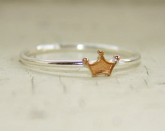 Princess Ring brass and sterling silver band