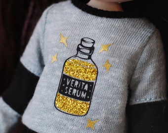 RESERVED - Veritaserum - Long sleeved sweater with sparkling potion for Blythe - by Icantdance